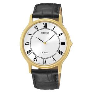 Seiko Solar Powered Classic White Dial Watch SUP878P1