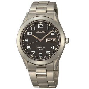 Seiko Titanium Black Dial Casual Everyday Watch SGG711P9