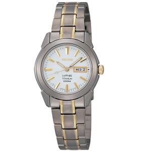 Seiko Ladies Titanium Sport Style White Dial Watch SXA115P1