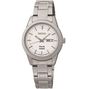 Seiko Solar Powered Ladies Day Date Display Watch SUT159P1