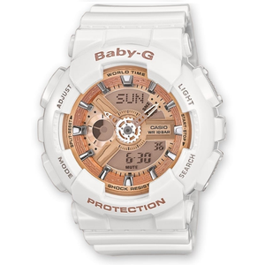 Baby-G Ladies Pink Dial Chronograph Watch BA-110-7A1ER