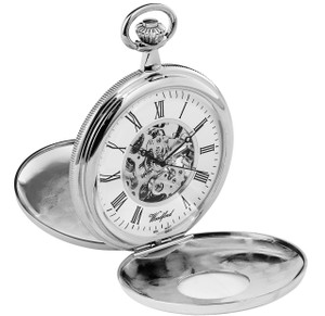 Woodford 17 Jewel Skeleton Half Hunter Pocket Watch With Free Engraving 1078