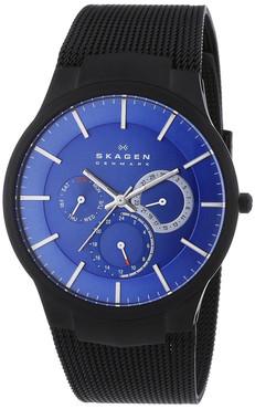 Skagen Mens Titanium Multifunction Blue Watch 809XLTBN