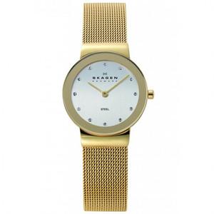 Skagen Ladies Gold-Tone Watch 358SGGD