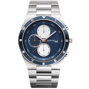 Bering Men's Solar Powered Chronograph Watch 34440-708