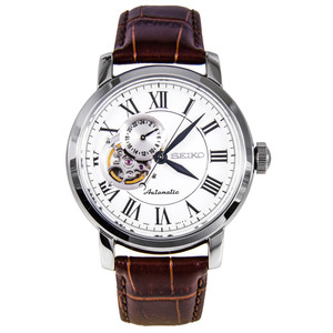 Seiko Mens Automatic Leather Strap Watch SSA231K1