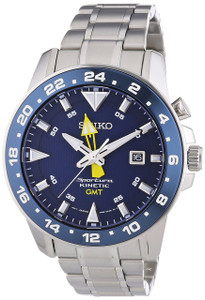 Seiko Mens Sportura Kinetic GMT Watch SUN017P1