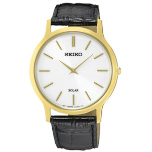 Seiko Mens Solar Powered Classic Watch SUP872P1