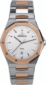 Michel Herbelin Gents Odyssee Two Tone Watch 12231/BTR11