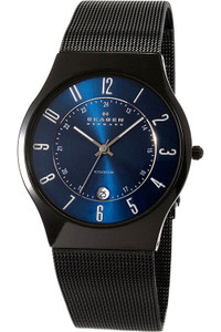 Skagen Men's Titanium Blue Dial Watch T233XLTMN