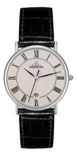Michel Herbelin Mens Classic Sonates Strap Watch 12443/S08