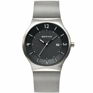 Bering Mens Solar Powered Black Dial Watch 14440-002