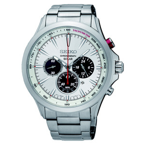 Seiko Mens Solar Chronograph Watch SSC491P1