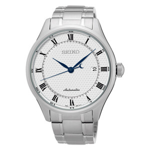 Seiko Mens Automatic White Dial Watch SRP767K1