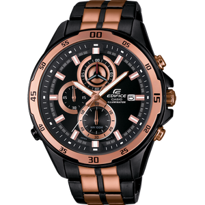 Edifice Black And Rose Gold Bracelet Chronograph Watch EFR-547BKG-1AVUEF