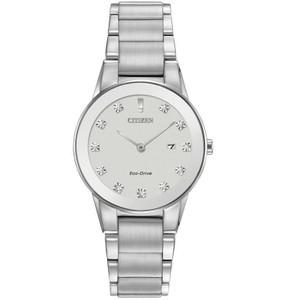 Citizen Axiom Ladies' Eco-Drive White Watch GA1050-51B