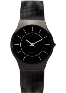 Skagen Men's Titanium Black Watch 233LTMB