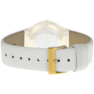 Skagen Genuine Replacement 22mm White Leather Strap For SKW2027