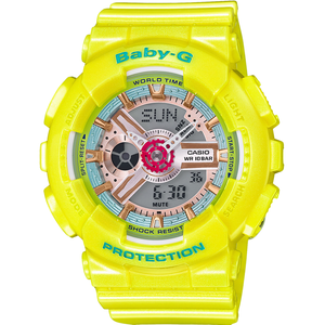 Baby-G Ladies Shimmering Neo Pastel Yellow Watch BA-110CA-9AER