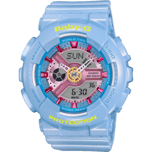 Baby-G Ladies Shimmering Neo Pastel Blue Watch BA-110CA-2AER