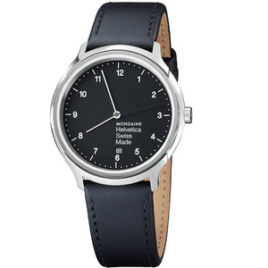 Mondaine Gents Helvetica Black Watch MH1.R2220.LB