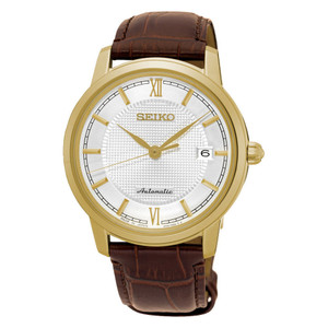 Seiko Mens Presage PVD Gold Plated Automatic Watch SRPA14J1