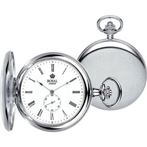 Royal London Full Hunter Quartz Pocket Watch 90013-01