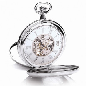 Royal London Half Hunter Mechanical Pocket Watch 90029-01