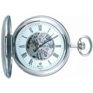 Royal London Full Hunter Mechanical Pocket Watch 90005-01