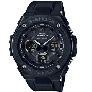 G-Shock Black Metal Radio Controlled Solar Watch GST-W100G-1BER