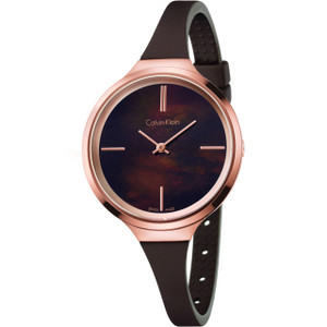 Calvin Klein Ladies Lively Watch with Brown Dial K4U236FK