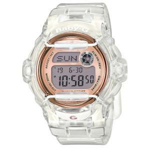 Baby-G Ladies Crystal Clear Pink Watch BG-169G-7BER