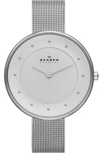 Skagen Ladies Classic Silver-Tone Steel Mesh Watch SKW2140