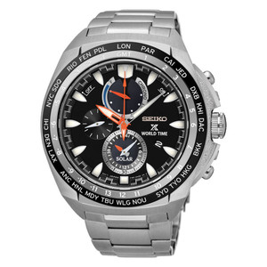 Seiko Mens Prospex Solar Powered World Time Watch SSC487P1