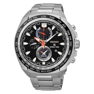 Seiko Mens Prospex Solar Powered World Time Watch SSC487P1