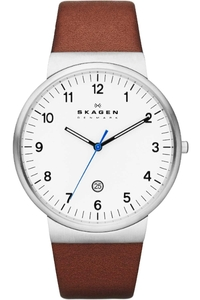 Skagen Men's Classic Brown Leather Watch SKW6082