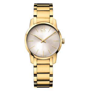 Calvin Klein Ladies City PVD Gold Stainless Steel Watch K2G23546