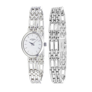Rotary Ladies Sterling Silver Watch LB20061/BR/02