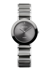 Bering Ladies Ceramic Black Strap and Dial Watch 11429-Charity2