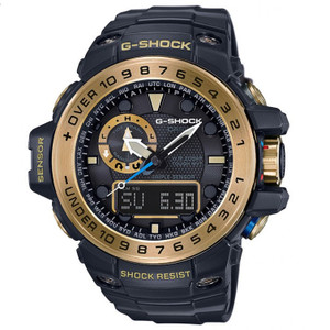 G-Shock Gulfmaster Black & Gold Triple Sensor Watch GWN-1000GB-1AER