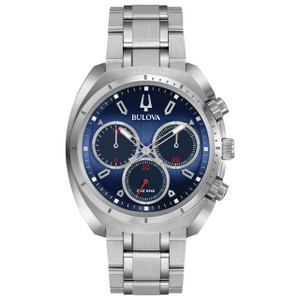 Bulova Men's Curved Chronograph Watch 96A185