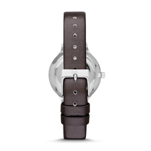 Skagen Replacement Silver Leather Strap For SKW2276 With Free Connecting Pins