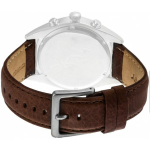 DKNY Watch Replacement Brown Leather Strap For NY1509 With Free Connecting Pins