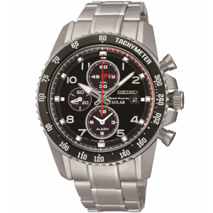 Seiko Sportura Mens Solar Powered Chronograph Watch SSC271P9