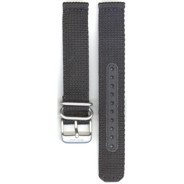 Seiko Replacement Strap Black Nylon 18mm 4K13JZ With Free Pins