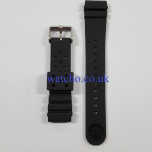Seiko Replacement Strap For SKX007K1 Fits More Seiko Diver's Watches Black Rubber 22mm
