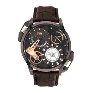 STORM Dualon Leather Men's Brown Watch