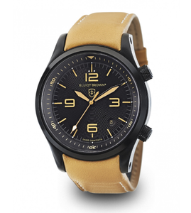 Elliot Brown Canford Mens Tan Leather Black Watch 202-008-L04