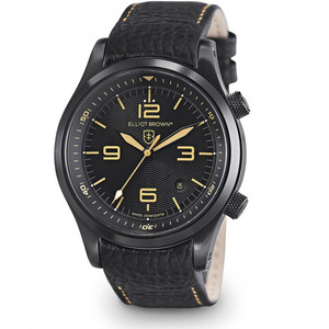 Elliot Brown Canford Mens Black Leather Watch 202-008-L11