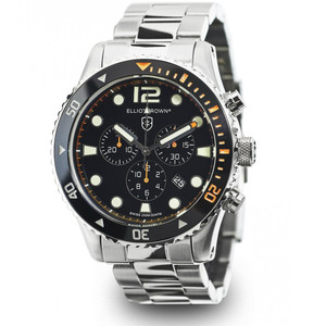 Elliot Brown Bloxworth Mens Stainless Steel Orange Watch 929-005-B01